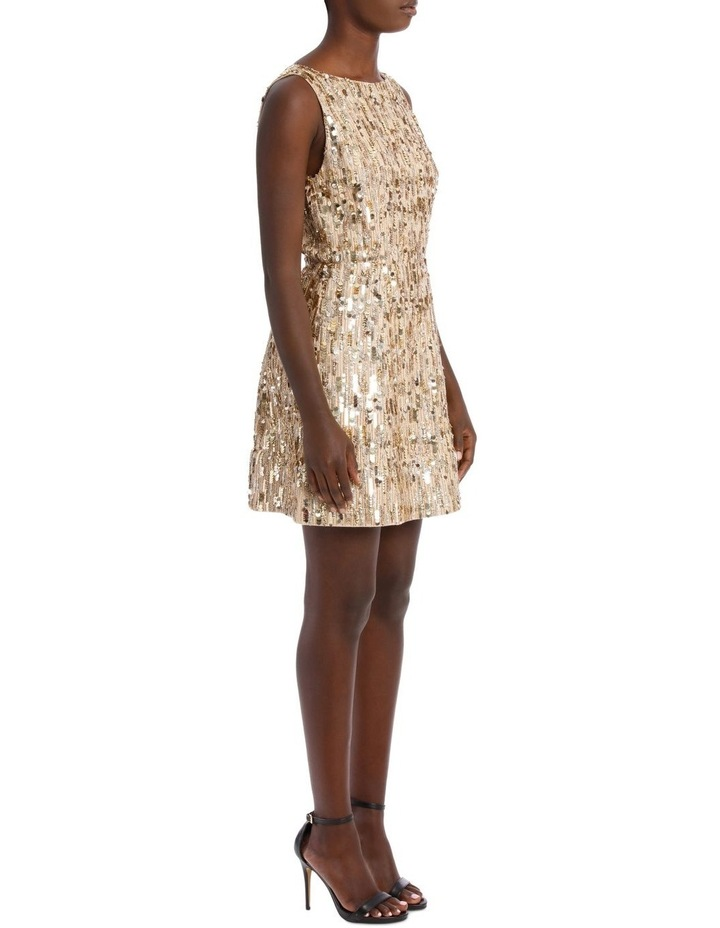 Lindsey Embellished Stretched Pouf Dress image 2