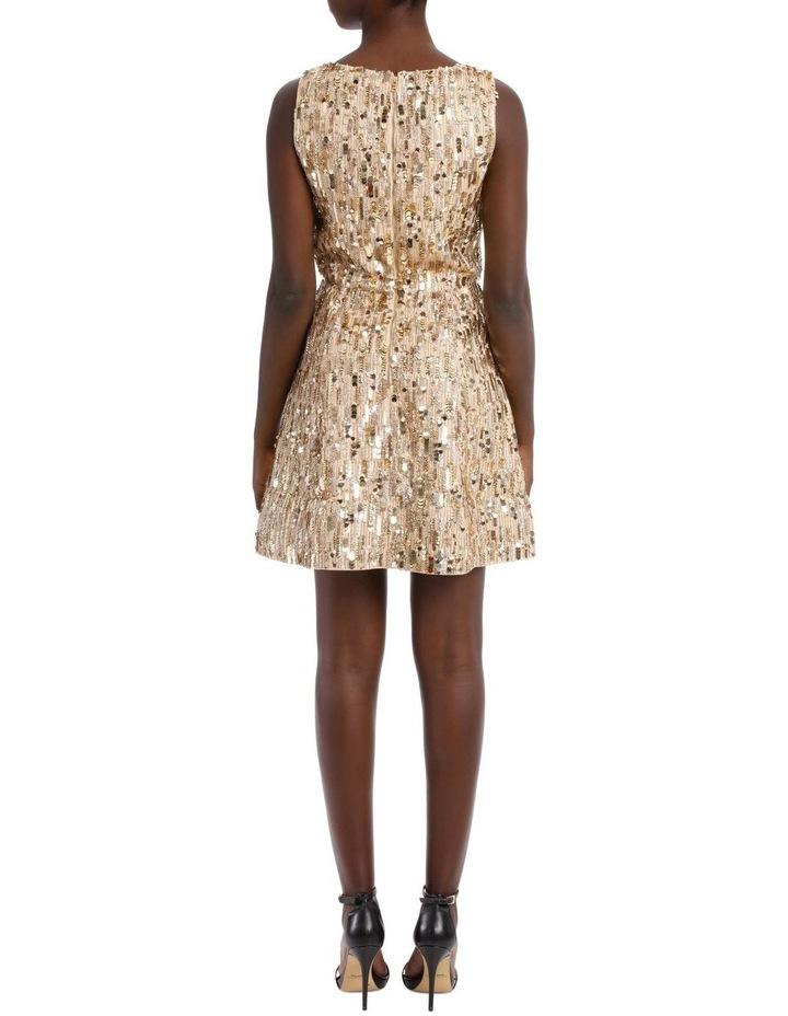 Lindsey Embellished Stretched Pouf Dress image 3