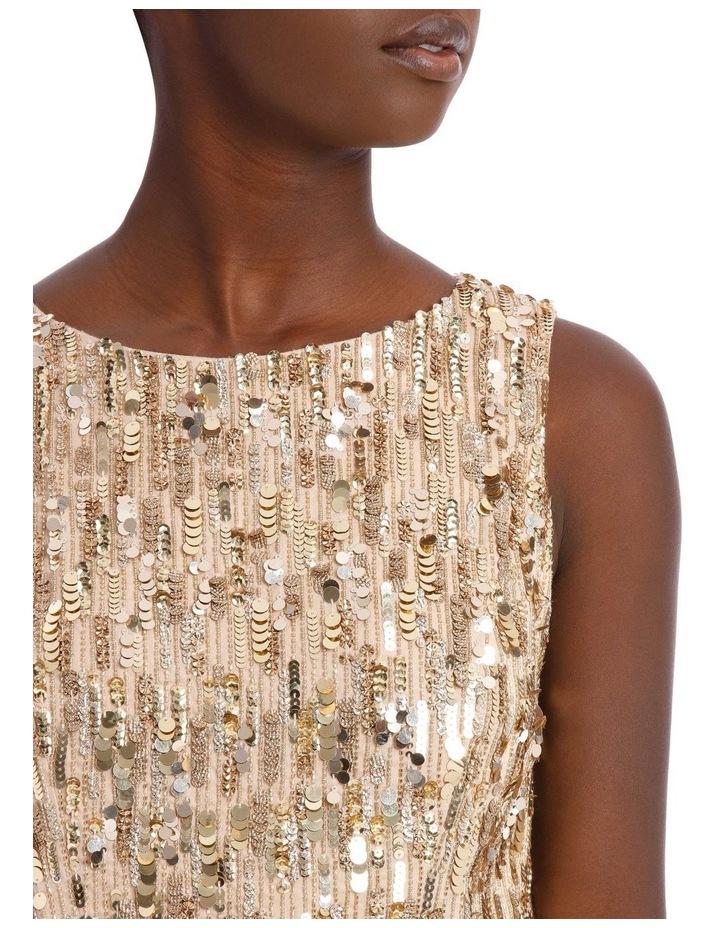 Lindsey Embellished Stretched Pouf Dress image 4