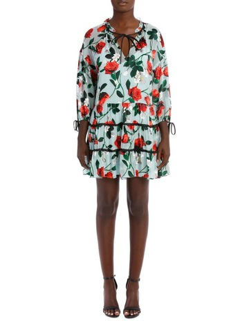 670c42f203d4c Alice OliviaArnette Tiered Tunic Dress