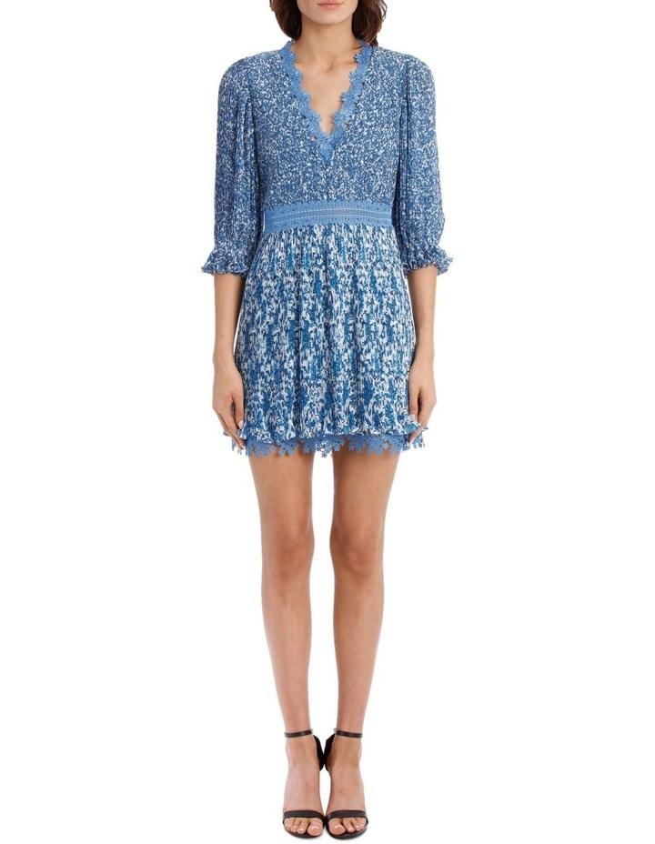 Jonna Pleated Deep V Mini Dress image 1
