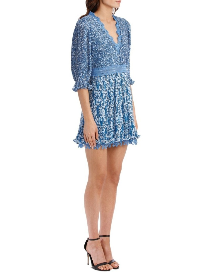 Jonna Pleated Deep V Mini Dress image 2