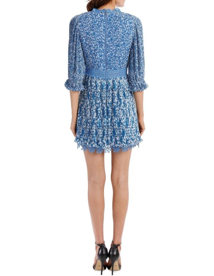 Jonna Pleated Deep V Mini Dress image 3