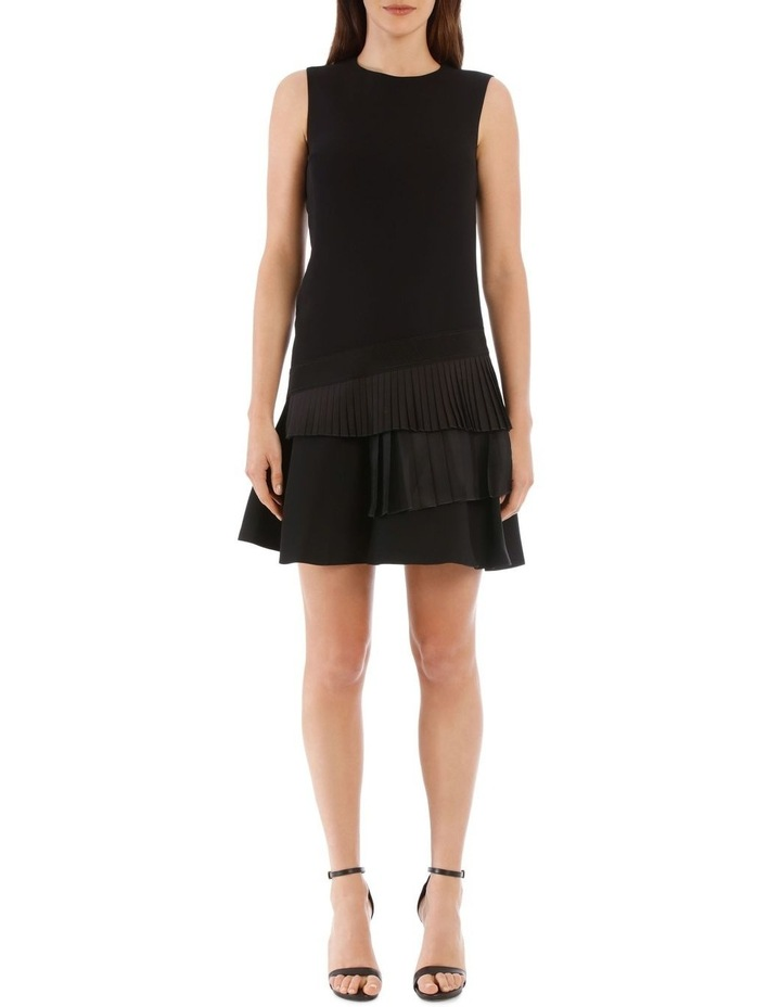 Black Asymmetric Pleat Dress image 1