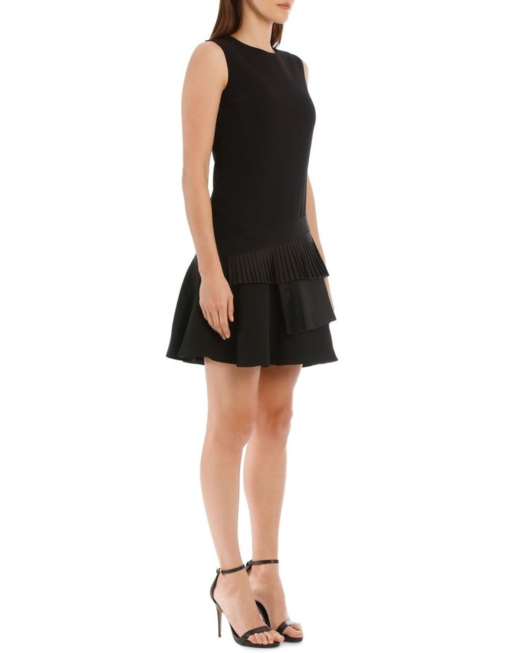 Black Asymmetric Pleat Dress image 2