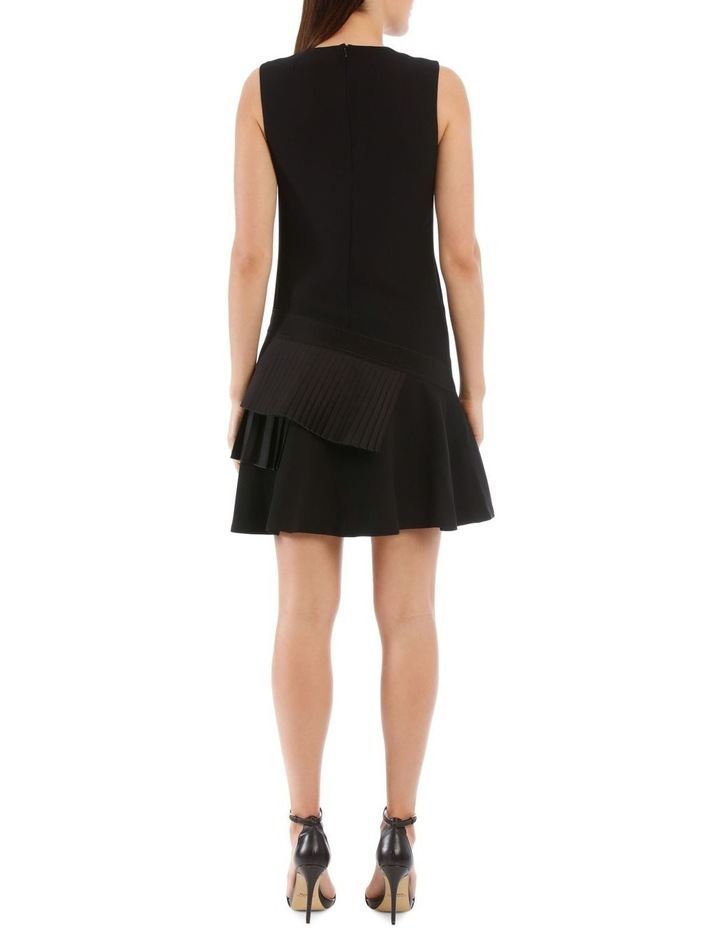 Black Asymmetric Pleat Dress image 3