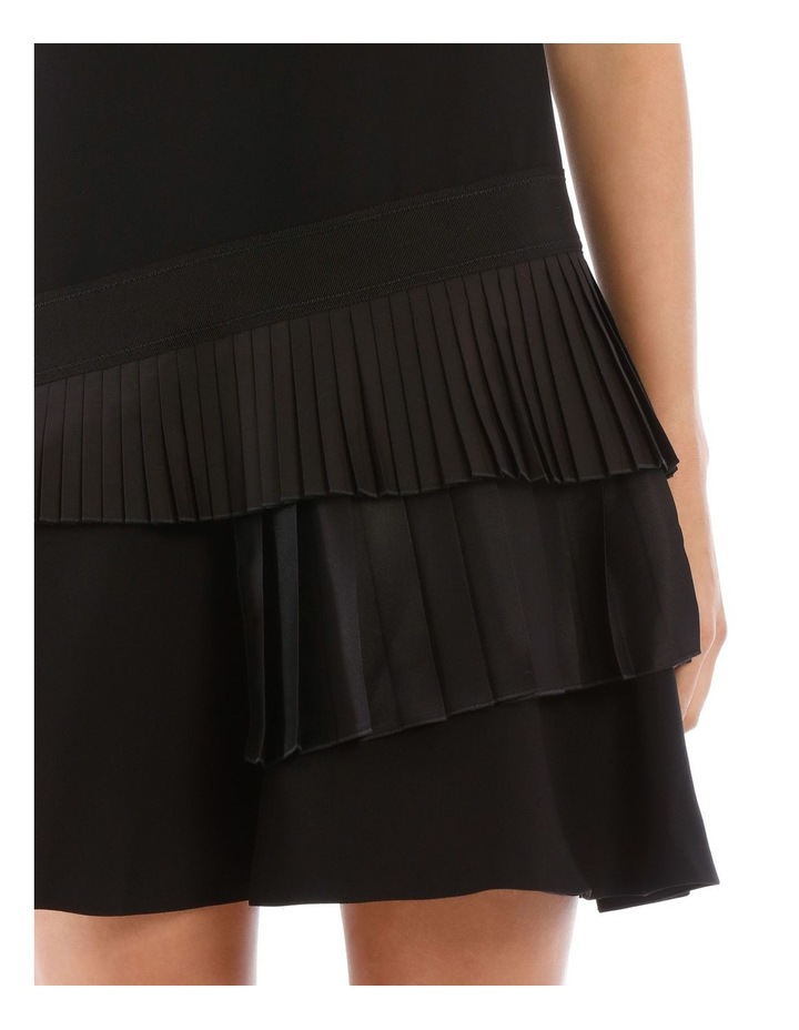 Black Asymmetric Pleat Dress image 4