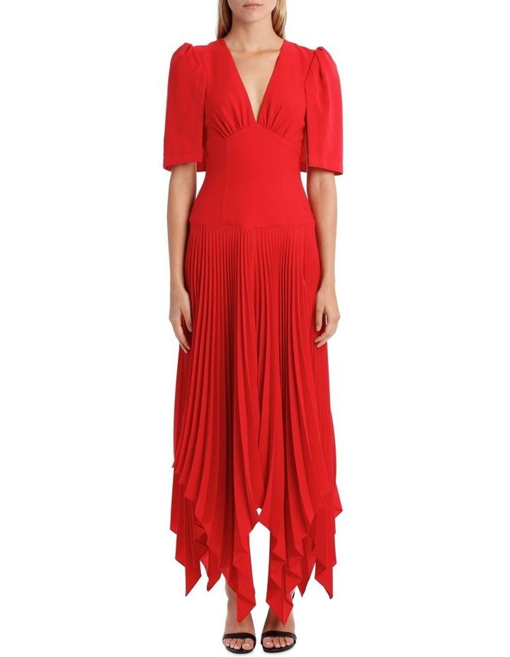 Short Sleeve Asymmetric Hem Dress image 1