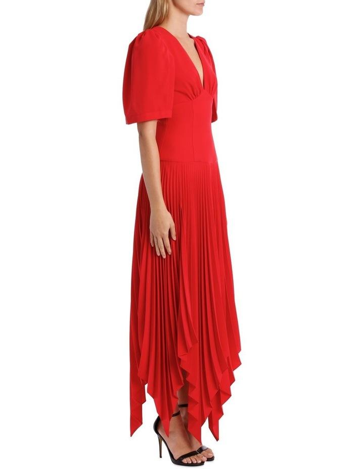 Short Sleeve Asymmetric Hem Dress image 2