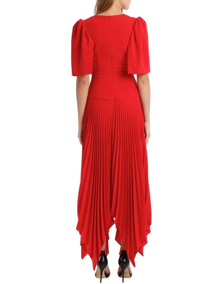 Short Sleeve Asymmetric Hem Dress image 3