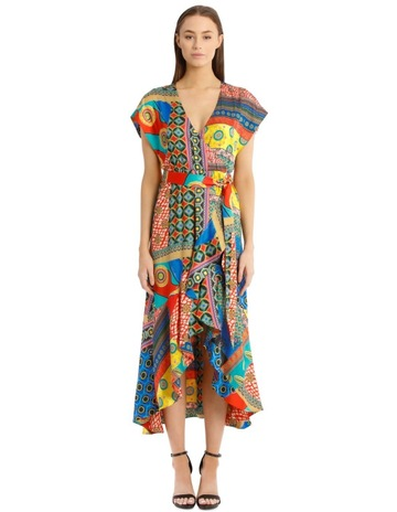 3c1823923ec2 Alice Olivia Midi Patchwork Dress