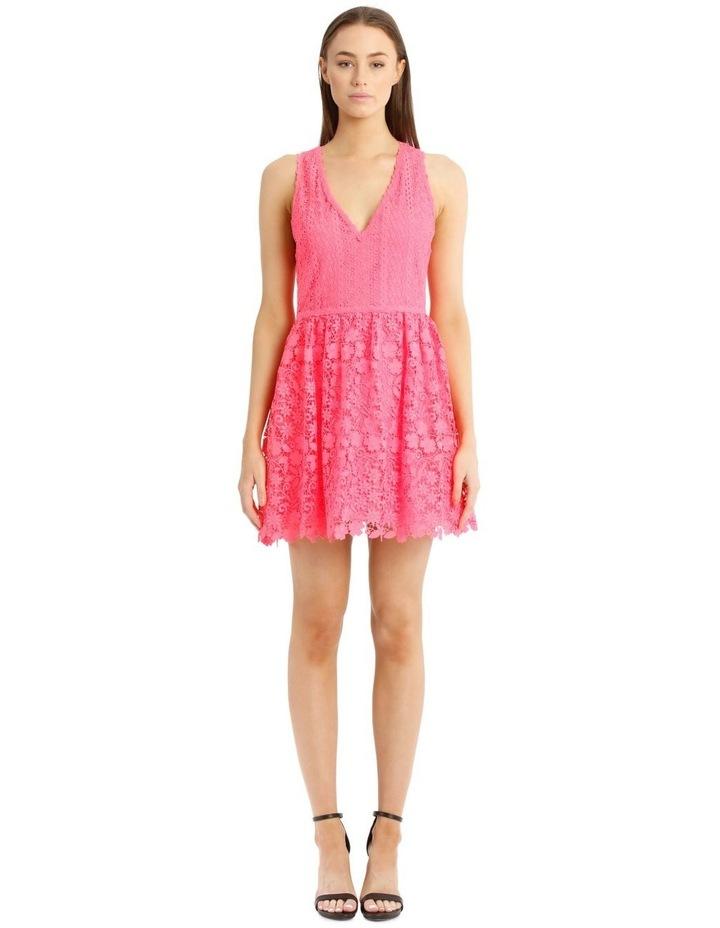 Hot Pink Lace Dress image 1