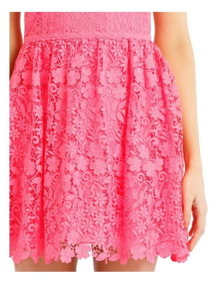 Hot Pink Lace Dress image 4