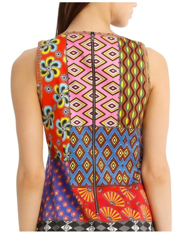Carla Sleeveless Patchwork Dress image 4