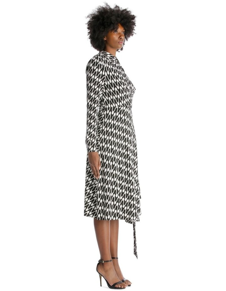 Long-Sleeve Button-Up Wrap Dress image 2