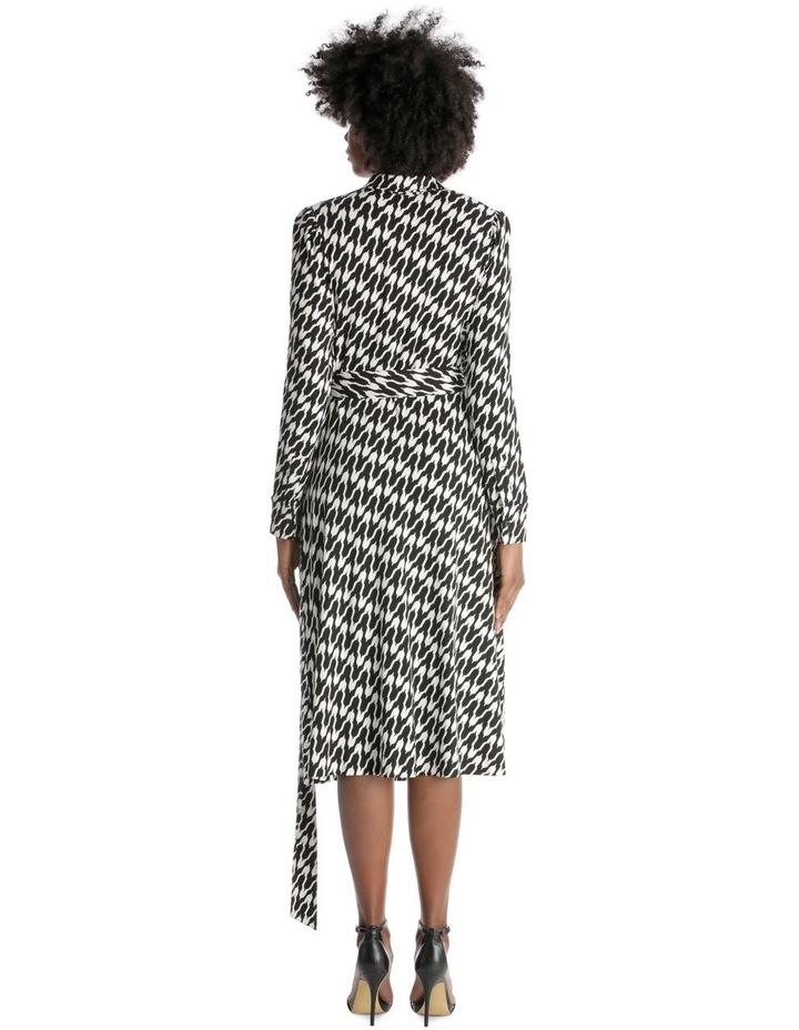Long-Sleeve Button-Up Wrap Dress image 3