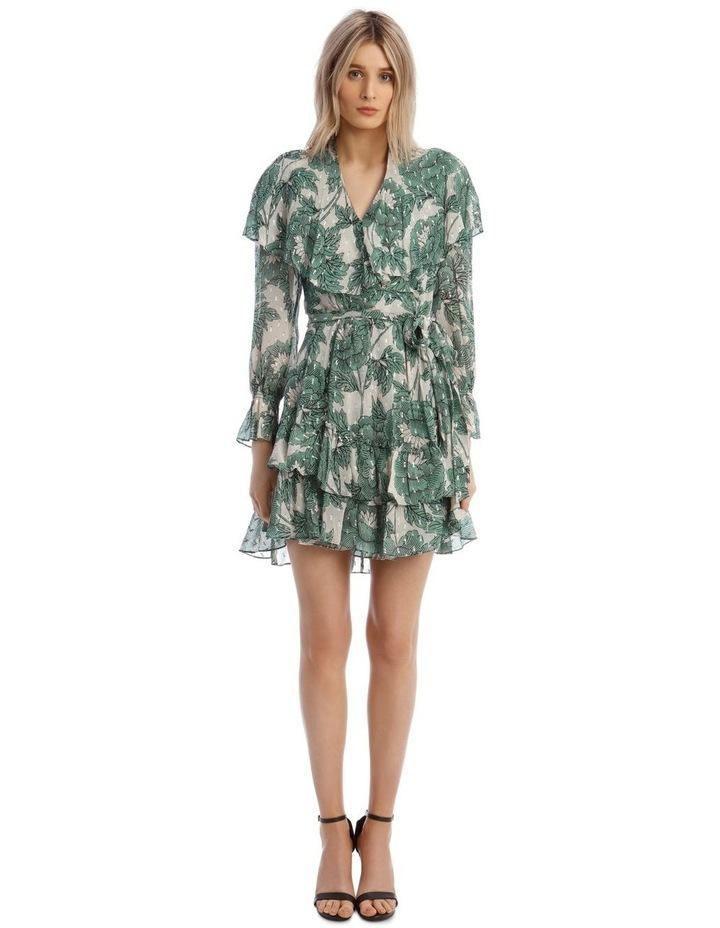 Simone Metallic Silk Mini Wrap Dress image 1