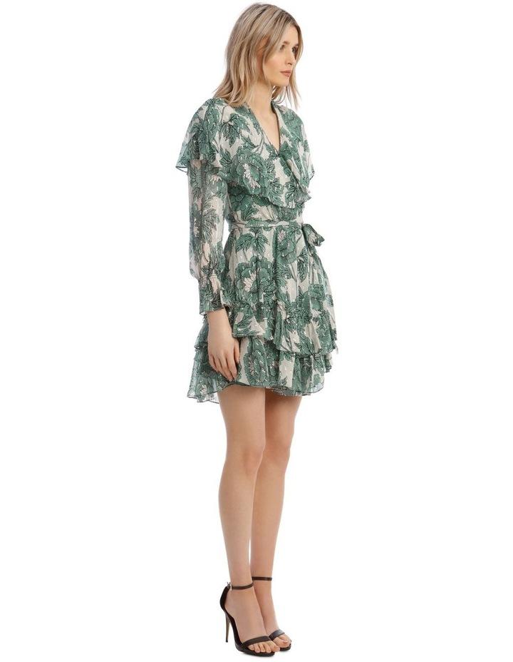 Simone Metallic Silk Mini Wrap Dress image 2