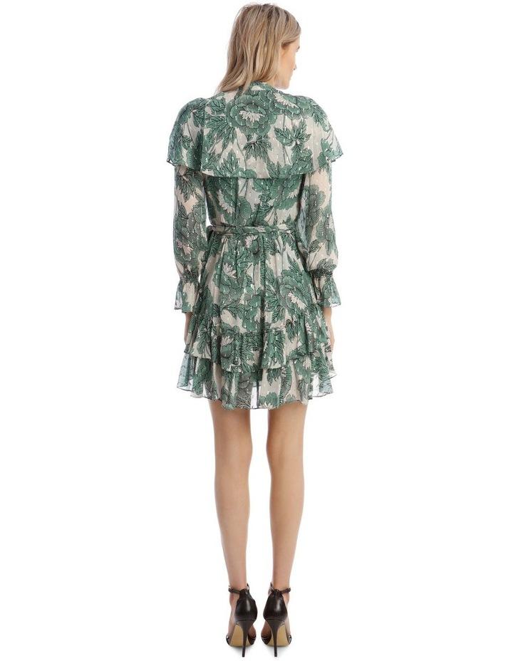 Simone Metallic Silk Mini Wrap Dress image 3