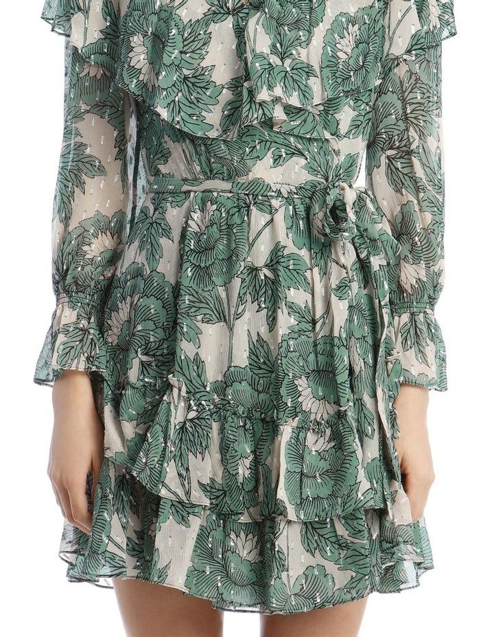 Simone Metallic Silk Mini Wrap Dress image 4