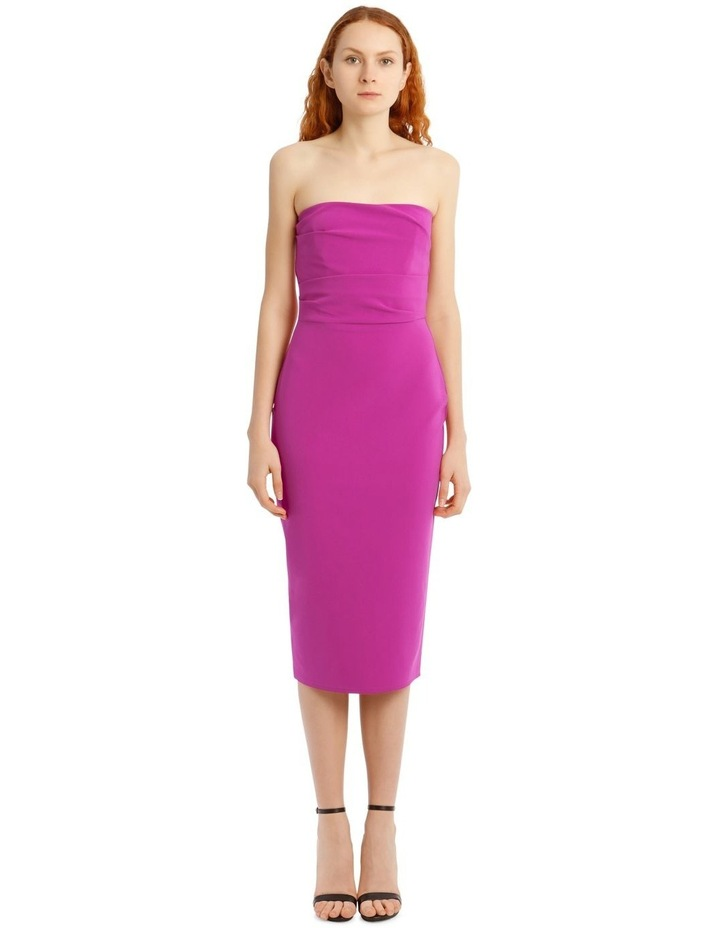 Dylan Strapless Stretch Crepe Midi Dress image 1