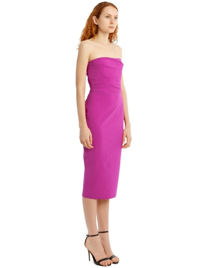 Dylan Strapless Stretch Crepe Midi Dress image 2