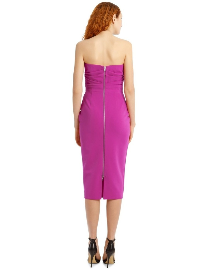 Dylan Strapless Stretch Crepe Midi Dress image 3
