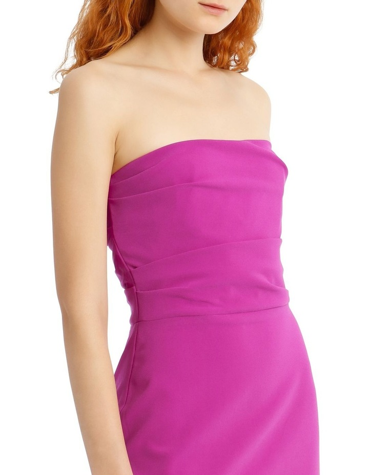 Dylan Strapless Stretch Crepe Midi Dress image 4