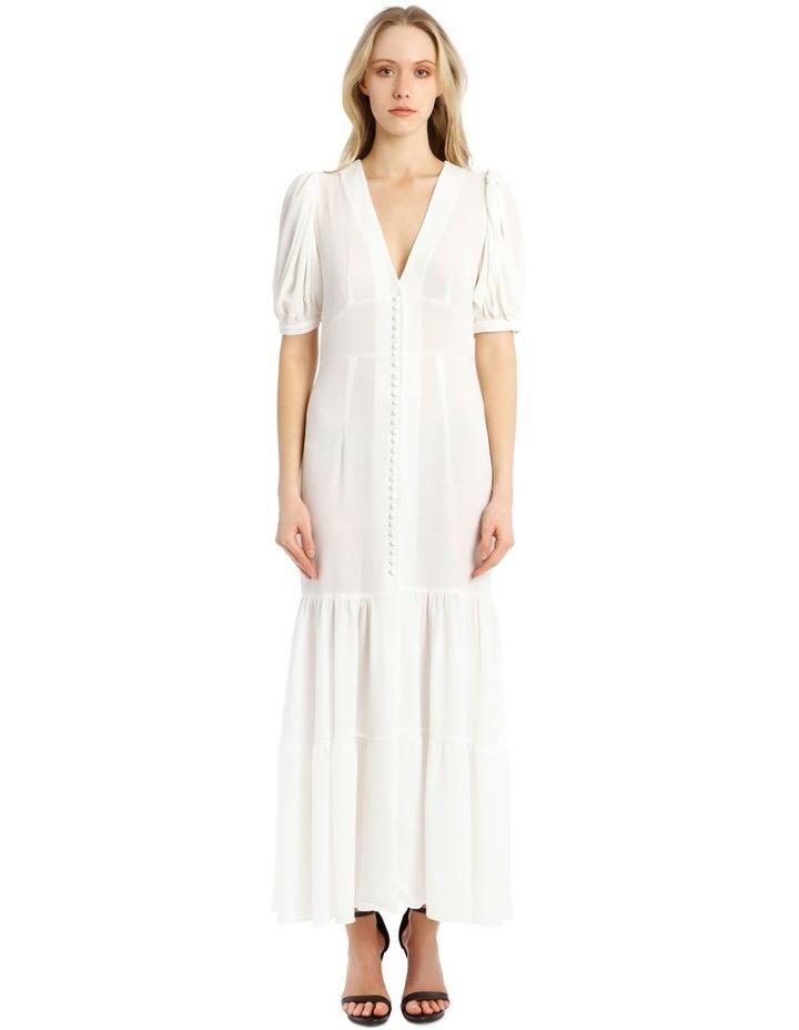 Short-Sleeve Button Through Maxi Dress image 1