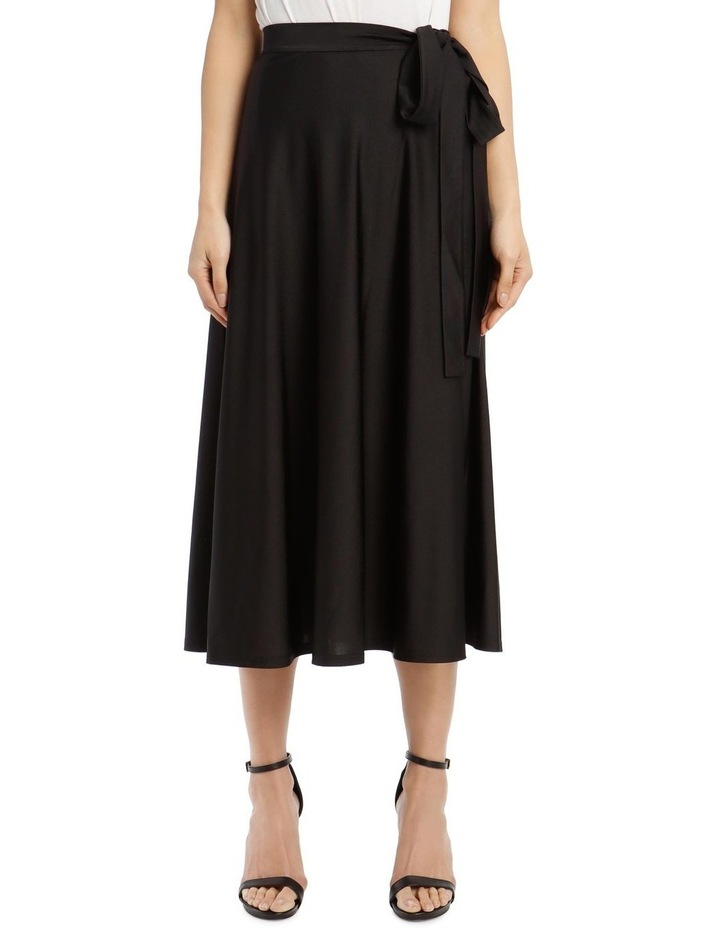 Long-Sleeve High-Neck Tie-Waist Maxi Dress image 1