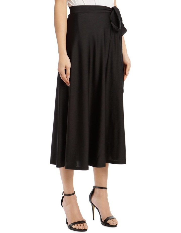 Long-Sleeve High-Neck Tie-Waist Maxi Dress image 2