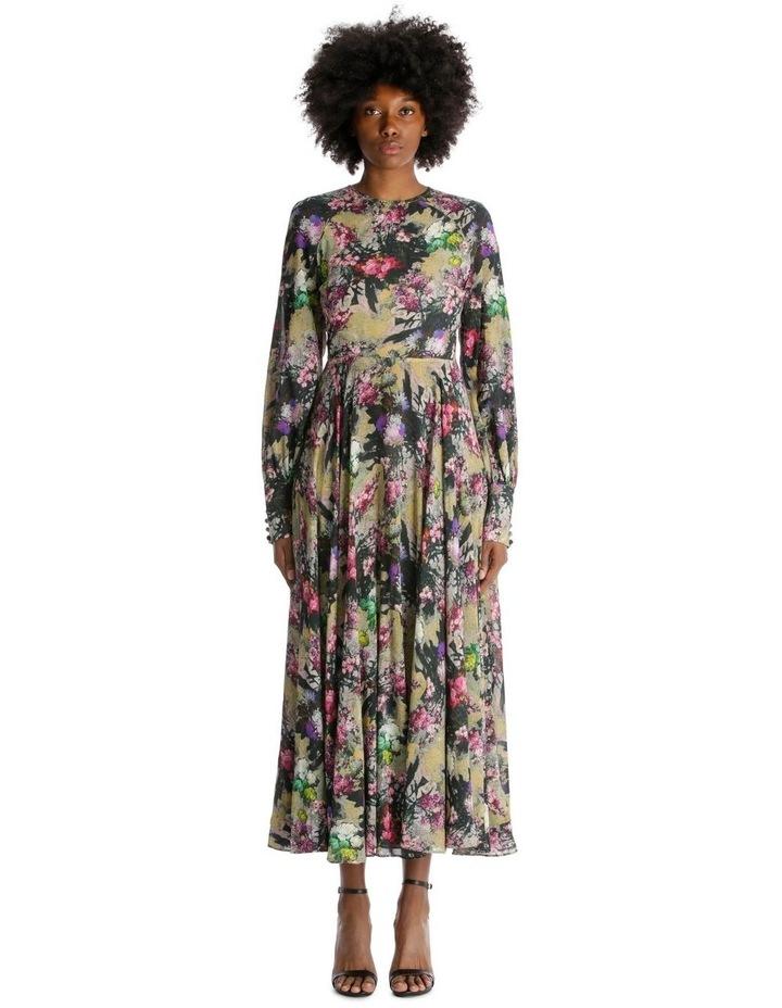 Open Back A-Line Floral Dress image 1