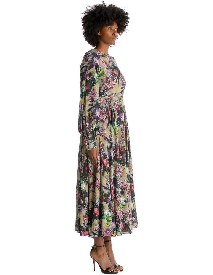 Open Back A-Line Floral Dress image 2