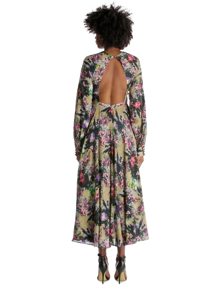 Open Back A-Line Floral Dress image 3