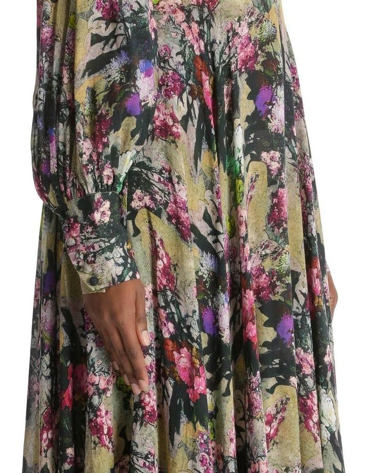 Open Back A-Line Floral Dress image 4