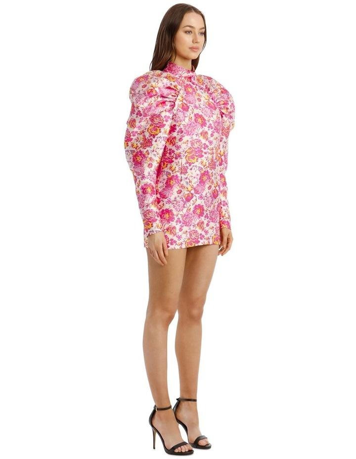 Puffed-Sleeve Floral Mini-Dress image 2