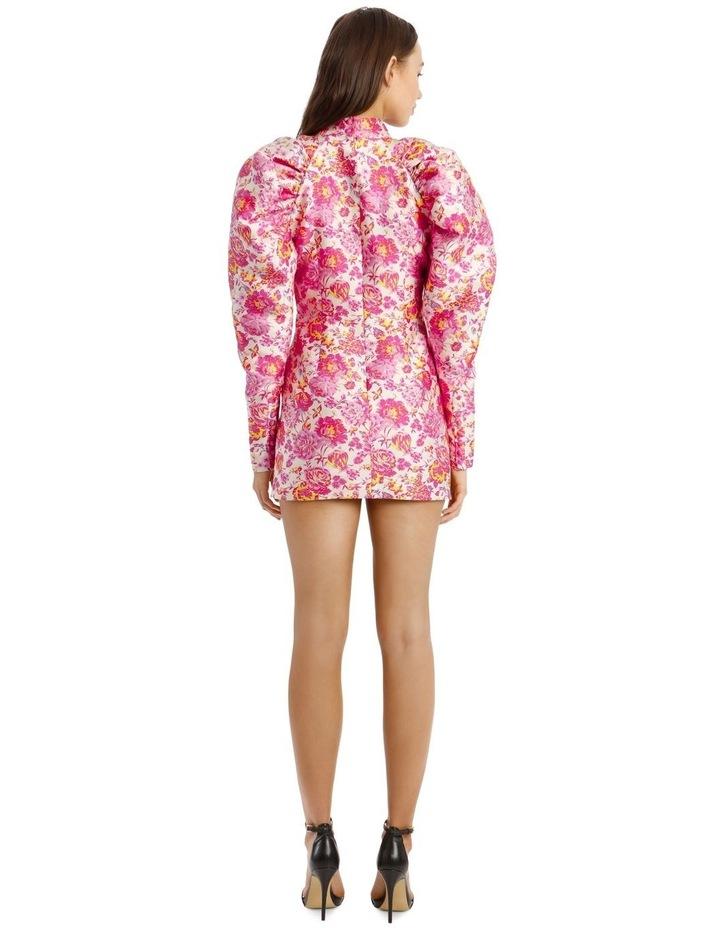 Puffed-Sleeve Floral Mini-Dress image 3