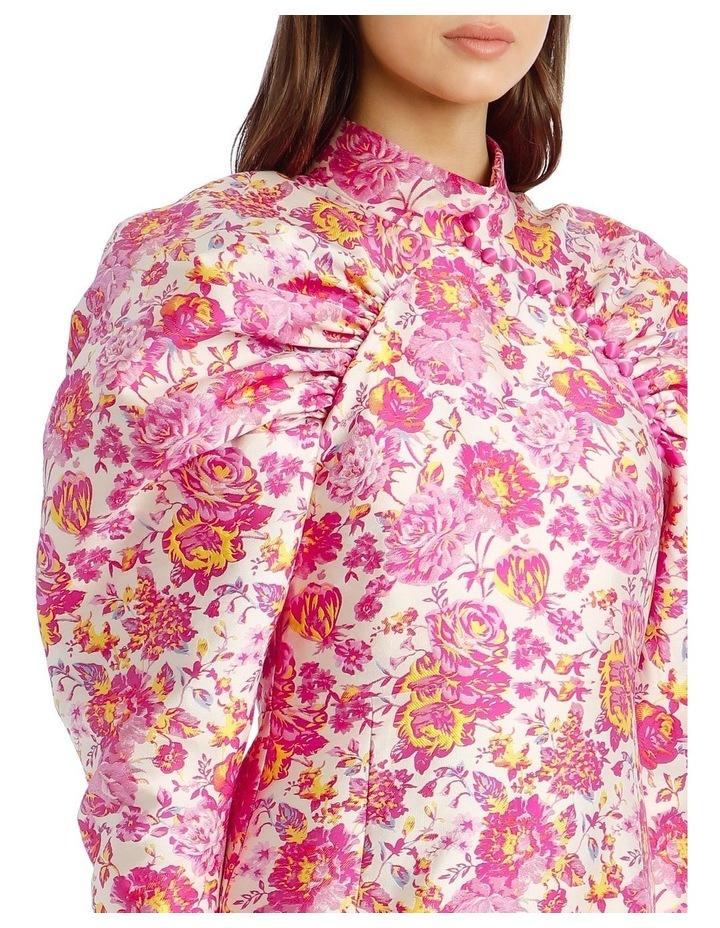 Puffed-Sleeve Floral Mini-Dress image 4