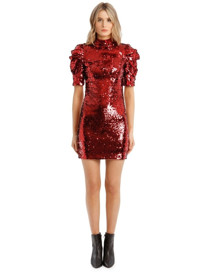 Brenna Sequin Puffed-Sleeve Mini Dress image 1