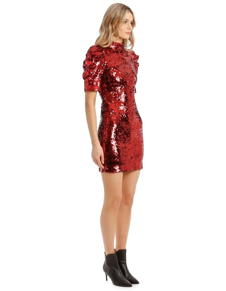 Brenna Sequin Puffed-Sleeve Mini Dress image 2