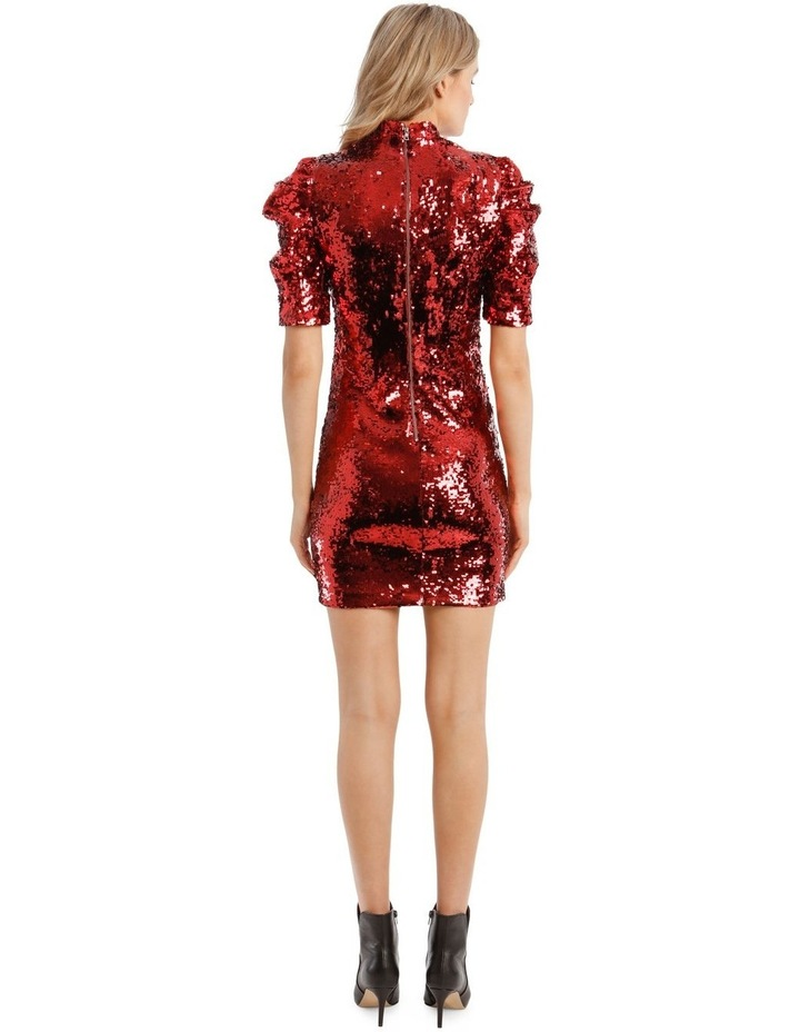 Brenna Sequin Puffed-Sleeve Mini Dress image 3