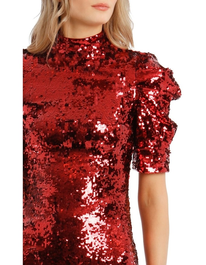 Brenna Sequin Puffed-Sleeve Mini Dress image 4