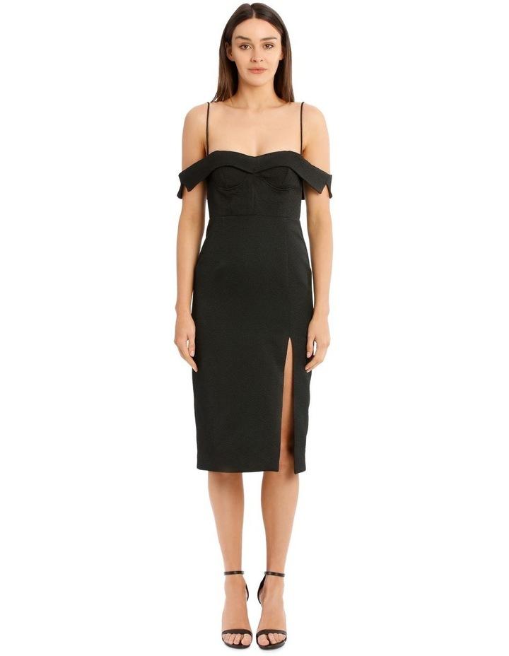 Alyssa Midi Dress - Black image 1