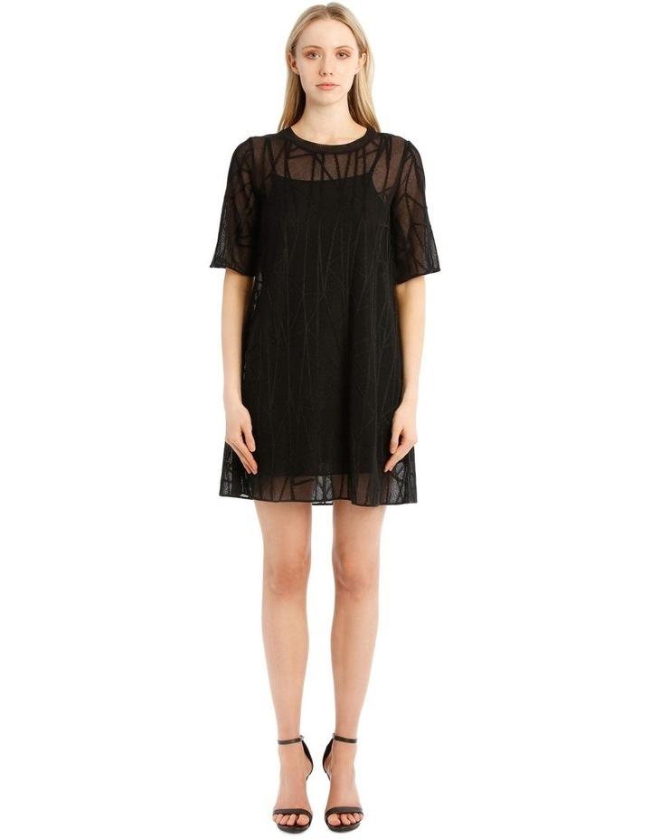 Sheer Black Knit Dress image 1