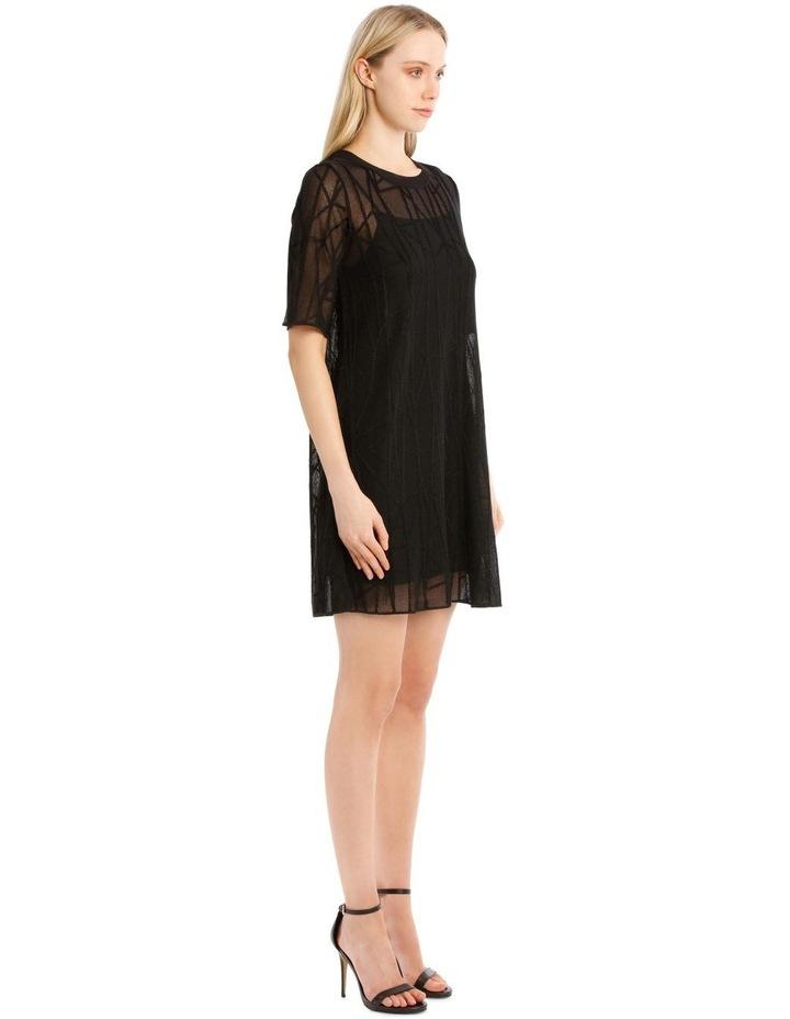 Sheer Black Knit Dress image 2
