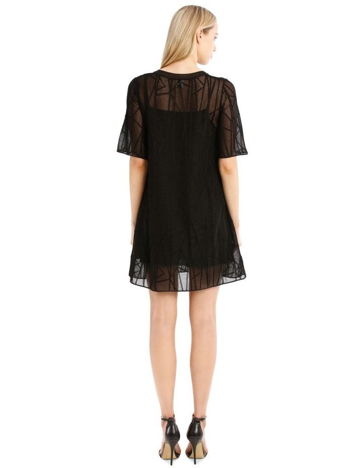 Sheer Black Knit Dress image 3