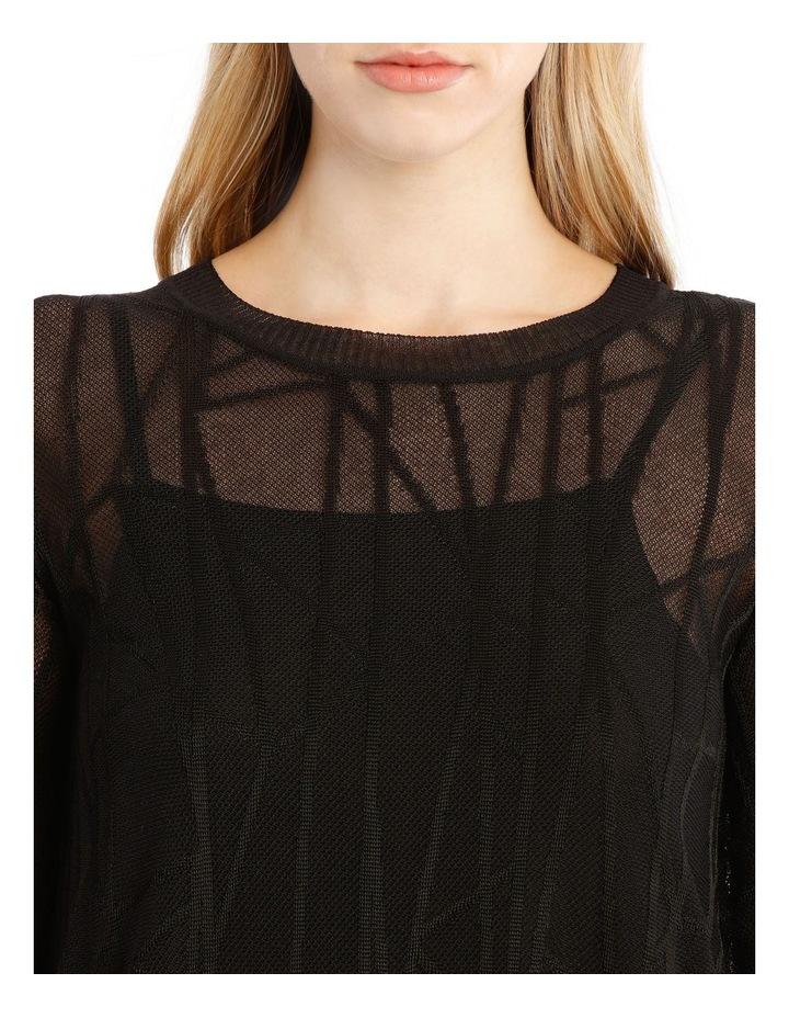 Sheer Black Knit Dress image 4