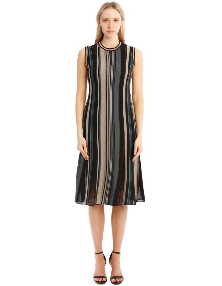Striped Metallic Dress image 1