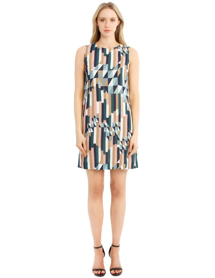 Printed Sleeveless Shift Dress image 1