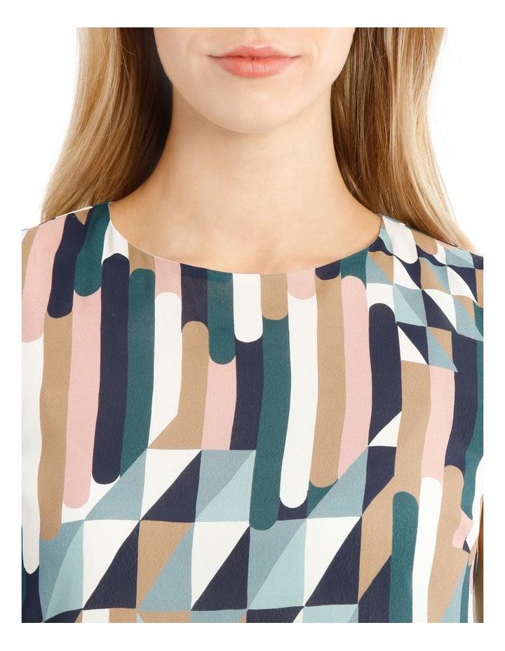 Printed Sleeveless Shift Dress image 2